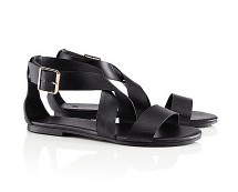 Black Strappy Sandals at HM