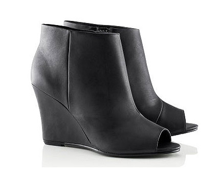 Black Wedge Heel Shoes at HM