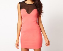 Bodycon Mesh Dress at Asos
