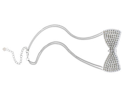 Bow Tie Necklace at Lipsy