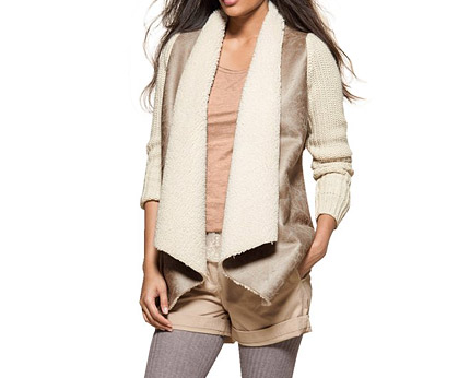 Dual Fabric Cardigan with Knitted Sleeves at La Redoute