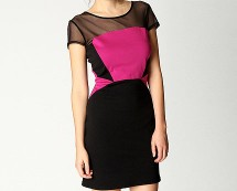 Colour Block Bodycon Dress at Boohoo