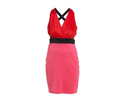 Colour Block Dress at Newlook