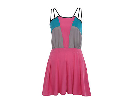 Colour Block Playsuit at Missselfridge