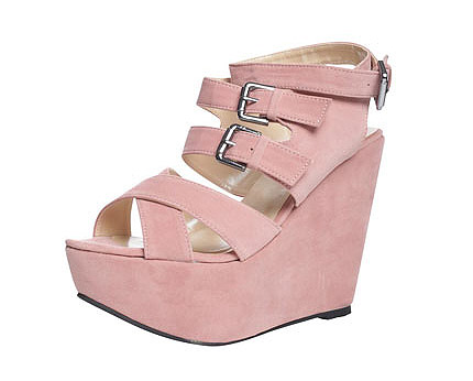 Cross Front Wedge at Boohoo