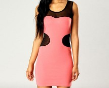 Cut-out Bodycon Dress at Boohoo