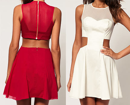 Cut-out Skater Dress at Asos