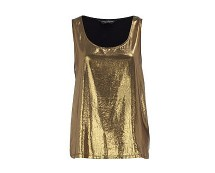 Gold Foil Vest at Dorothyperkins