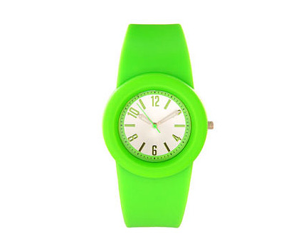 Green Rubber Watch at Asos