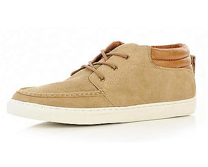 Lace-up Mid Tops at River Island