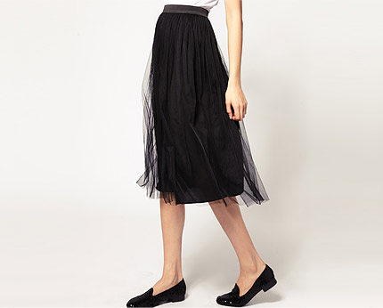 Mesh Midi Skirt at Asos