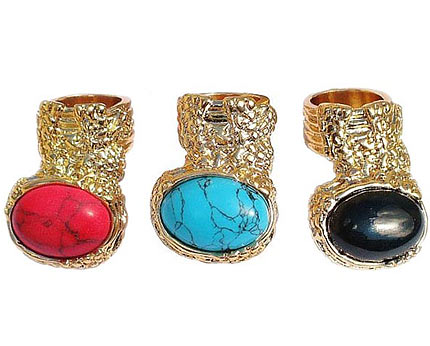 Oval Stone Rings at Babionline