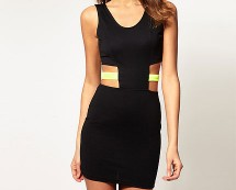 Paprika Cut-out Bodycon Dress at Asos