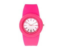 Pink Rubber Watch at Asos
