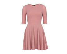 Pink Skater Dress at River Island