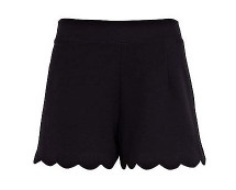 Scallop Hem Shorts at River Island