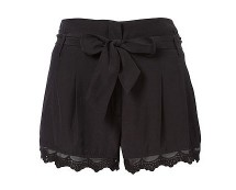Scalloped Edge Shorts at Lipsy