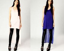 Sheer Back Silk Front Vest at Boohoo