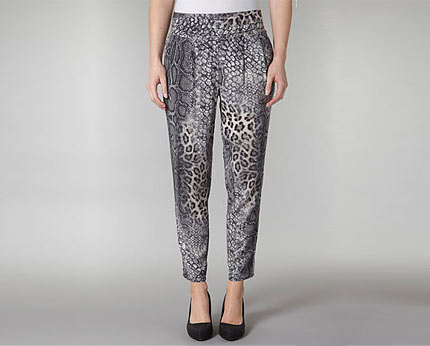 Snake Print-peg Trousers at Dorothy Perkins