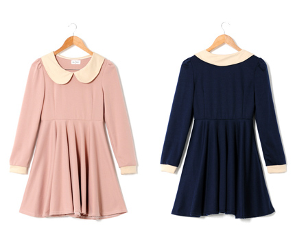 Peter Pan Collar Dress at Yesstyle