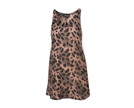 Animal Print Vest at Topshop