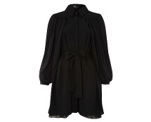 Black Collar Shirt Dress at Houseoffraser