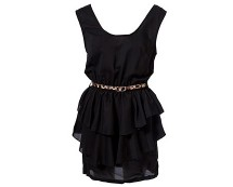 Black Ruffle Dress at Republic