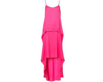 Bright Dip Hem Dress at Topshop