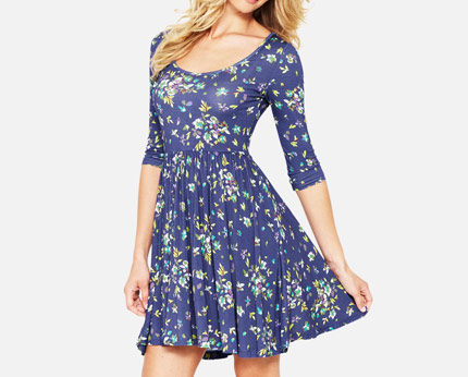 South Petite Jersey Skater Dress at K & Co