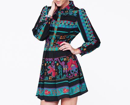 Love Label Printed Shirt Dress at K & Co