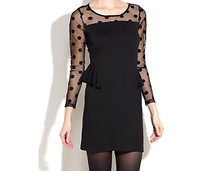 Mesh Peplum Dress at Newlook