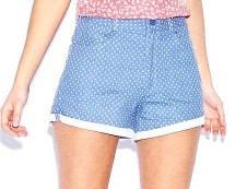 Polka Dot Hotpants at Boohoo