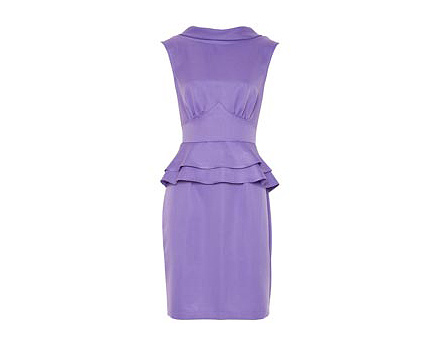 Purple Peplum Dress at Awear
