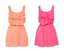 Ruffle Mini Dress at Awear