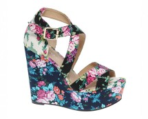 Floral Wedge Sandals at Asos