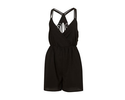 Black Playsuit at Topshop