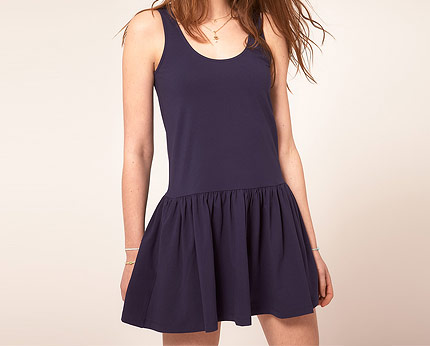 Drop Waist Mini Dress at Asos