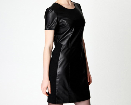Leather Dress at Boohoo