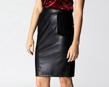 Leather Skirt at Boohoo