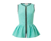 Peplum Zip Front Top at Houseoffraser