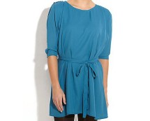 Pleat Sleeve Dress at Newlook