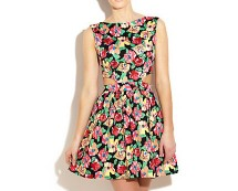 Floral Cut-out Dress at Newlook