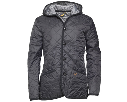 Quilted Jacket with Hood at Mandmdirect