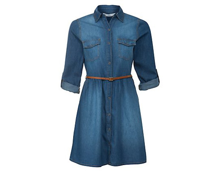 Denim Dress at Newlook