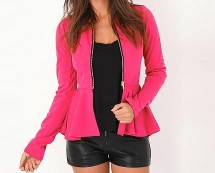 Karlena Peplum Jacket at Missguided