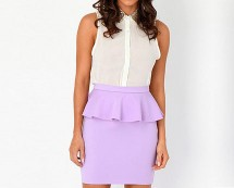 Peplum Mini Skirt at Missguided