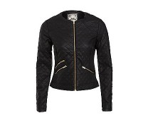 PU Quilted Jacket at Newlook