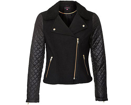 Quilted Sleeve Jacket at Newlook