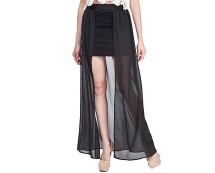 Split Front Maxi Skirt at Republic