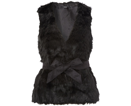 Faux Fur Gilet at Asda